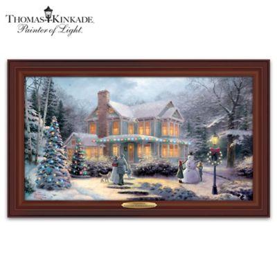 Thomas Kinkade Victorian Family Christmas Wall Decor