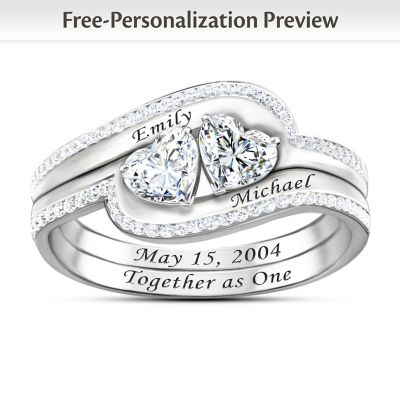 Together As One Personalized Ring