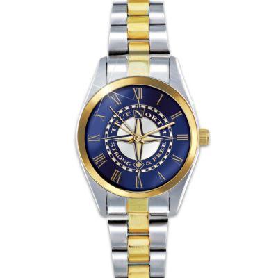 True North Etched Compass Design Women's Watch