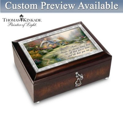 Thomas Kinkade In Mother's Heart Personalized Music Box