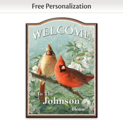 Songs Of Home Personalized Welcome Sign