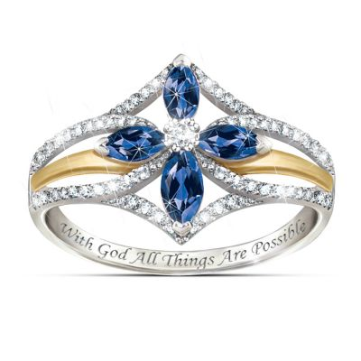 Bradford Exchange Sapphire Ring