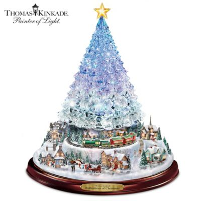 Thomas Kinkade Reflections Of Christmas Tabletop Tree