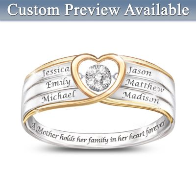 In A Mother's Heart Personalized Diamond Ring