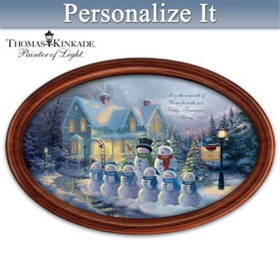 Winter Wonderland Personalized Collector Plate