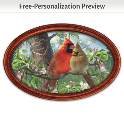 Love Birds Personalized Collector Plate