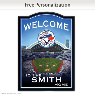 Toronto Blue Jays Personalized Welcome Sign