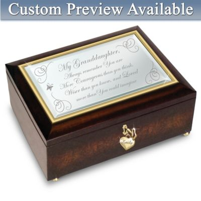 Granddaughter, You Are Loved Personalized Music Box
