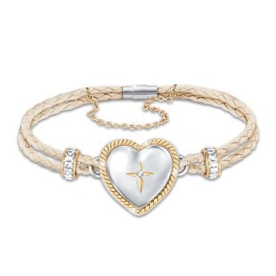 Bless And Keep My Daughter Diamond Bracelet