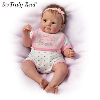 Daddys Little Girl So Truly Real Lifelike Baby Doll By