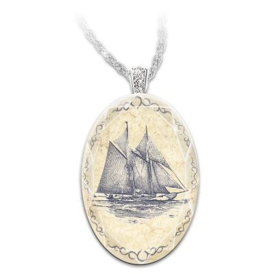 Bluenose Pendant Necklace