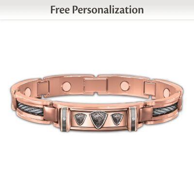 Mind, Body And Spirit Personalized Men's Bracelet
