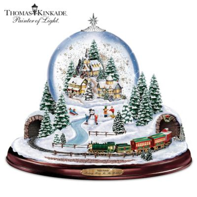 Thomas Kinkade Journey Home For The Holidays Snowglobe