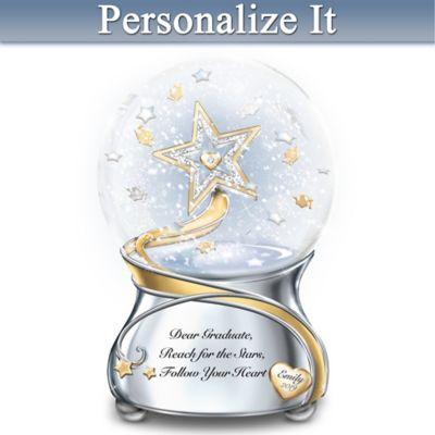 Dear Graduate Reach For The Stars Personalized Glitter Globe