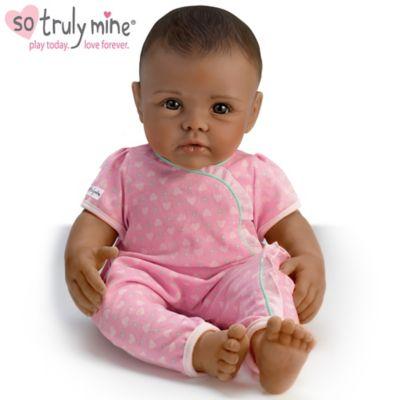 So Truly Mine Baby Doll: Black Hair, Brown Eyes, Dark Skin