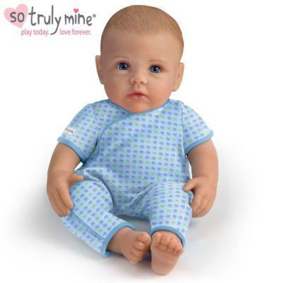 So Truly Mine Baby Doll: Light Brown Hair, Blue Eyes, Boy