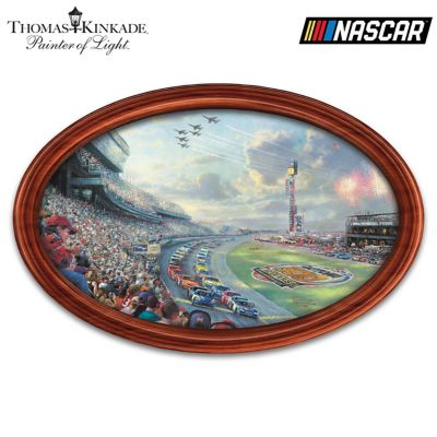Thomas Kinkade NASCAR Thunder Wall Decor