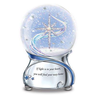 Aurora Borealis Glitter Globe