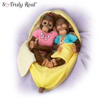 Frankie And Fiona Monkey Doll Set