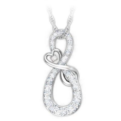 Mother & Daughter Diamond Pendant Necklace