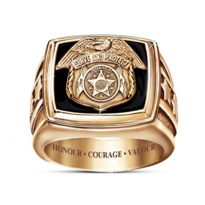 Serve And Protect Ring