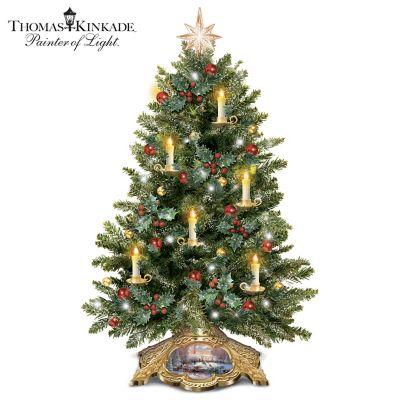 Thomas Kinkade Holiday Traditions Tabletop Tree