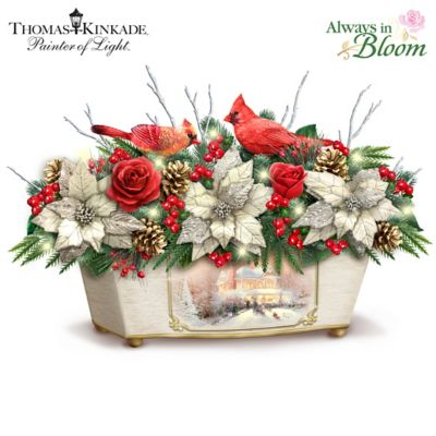 Thomas Kinkade Treasures Of The Season Table Centrepiece