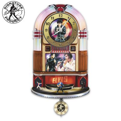 Elvis Presley Rock 'N' Roll Wall Clock