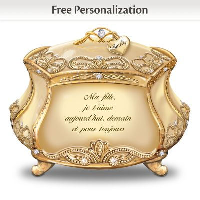 Daughter, I Love You Personalized Music Box