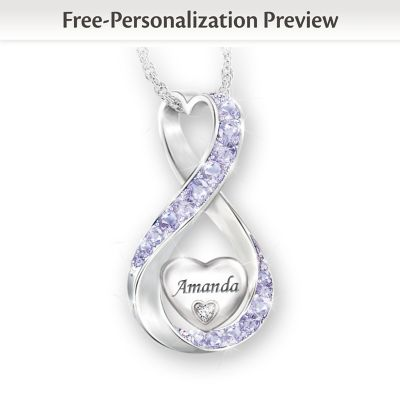 Always Loved Personalized Diamond Pendant Necklace