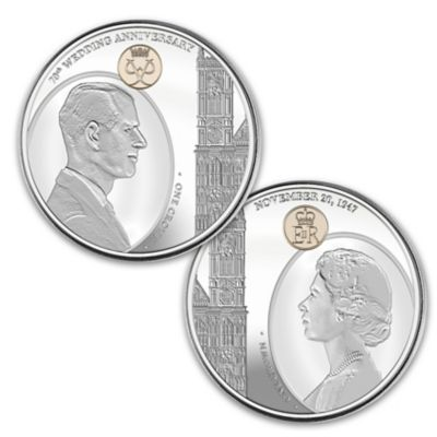 Queen Elizabeth II & Prince Philip Anniversary Coin Set
