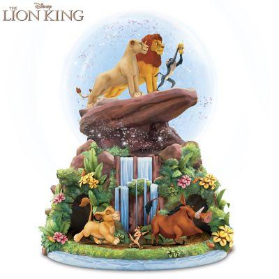 disney the lion king musical glitter globe. Black Bedroom Furniture Sets. Home Design Ideas