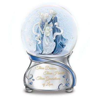 Three Generations Of Love Glitter Globe