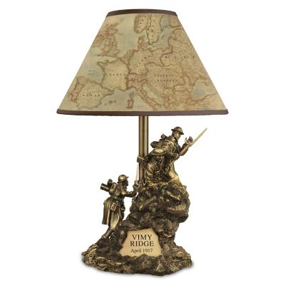 The Battle Of Vimy Ridge Lamp