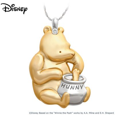 Classic Winnie The Pooh Pendant Necklace