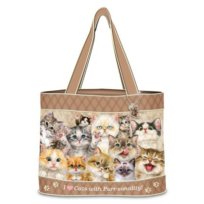 Cats With Purr-sonality Tote Bag