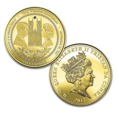 Queen Elizabeth II & Prince Philip Platinum Anniversary Coin