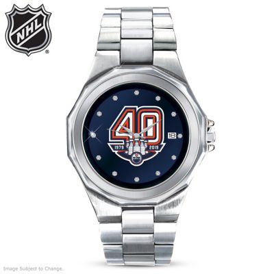 Edmonton Oilers® Men's Diamond Watch