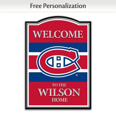 Montreal Canadiens® Personalized Welcome Sign