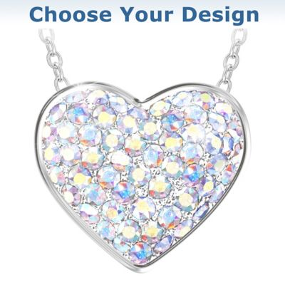 Brilliant Facets Of Love Pendant Necklace