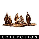 Genuine Bethlehem Olive Wood Nativity Figurine Collection