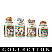 Cozy Kittens Canister Collection