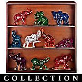 Rarest Gem Elephants Of The World Figurine Collection