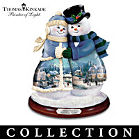 Thomas Kinkade Snow Couples Figurine Collection