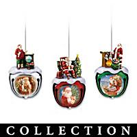 Dona Gelsinger's Santa Ornament Collection