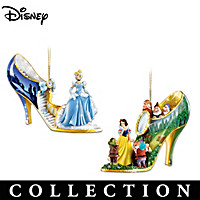 Disney Once Upon A Slipper Shoe Ornament Collection