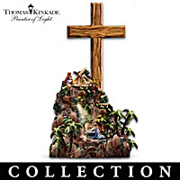 Thomas Kinkade Olive Wood Cross Sculpture Collection