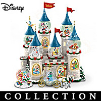 Disney\'s Christmas At The Castle Snowglobe Collection