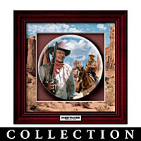 John Wayne: Western Legend Shadowbox Plate Collection