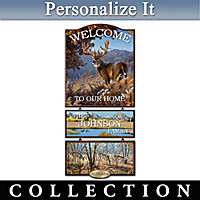 Seasons Of The Wild Personalized Welcome Sign Collection